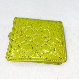 Coach Lime Green Wallet